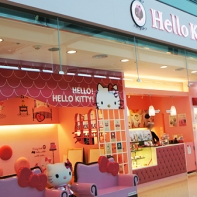 Various Hello Kitty Cafe locations