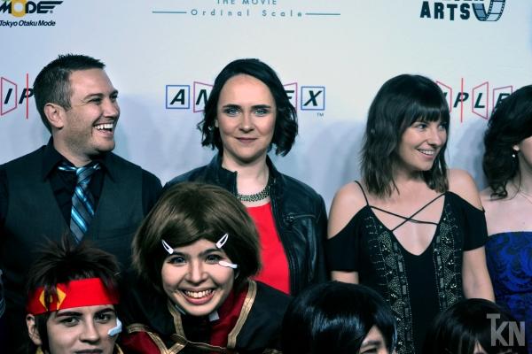 (Left) Bryce Papenbrook [Kirito / Kazuto Kirigaya]; (Middle) Sarah Williams [Lisbeth / Rika Shinozaki]; (Right) Cassandra Lee Morris [Leafa / Suguha Kirigaya]