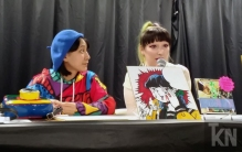 Q & A Panel with finalized live drawing