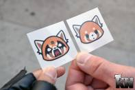 Aggretsuko temp tattoos