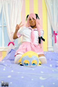 Me in my Astolfo Cosplay. Check out my cosplay page here: Facebook.com/ThaTrapArtist