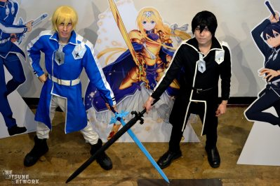Eugeo and Kirito cosplayers