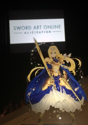 An acrylic 'Alice' standee, one of few SAO: Alicization merchandise that was available for purchase