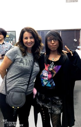Michelle Ruff and I (FUN FACT: Me and Michelle go WAY to 2016, She was the very first voice actor we interviewed for The Kitsune Network).