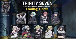 Trinity Seven Collectable Limited Trading Card (5 of 9 cards: randomly selected)