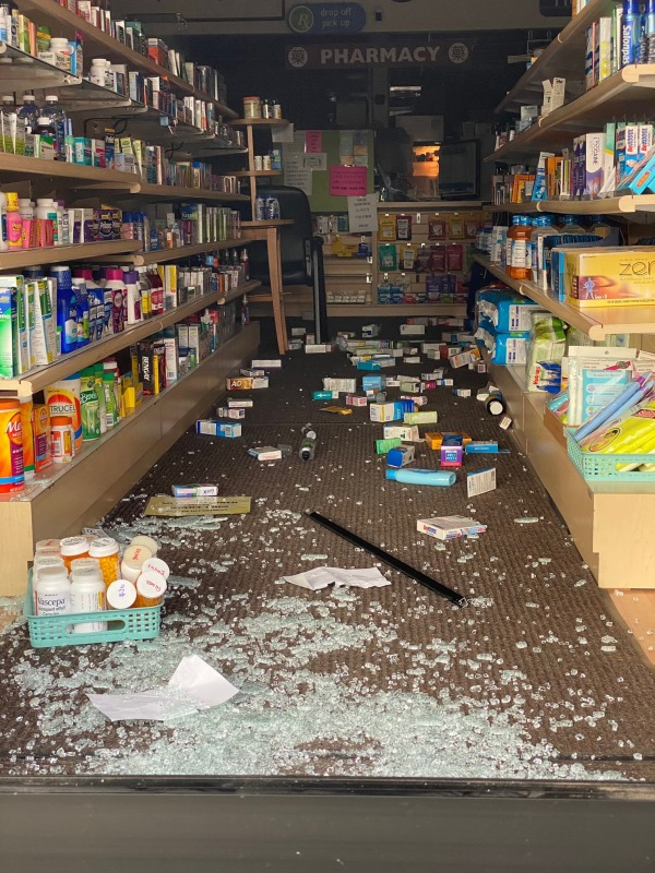 he Little tokyo pharmacy in Honda Plaza were also damaged.
