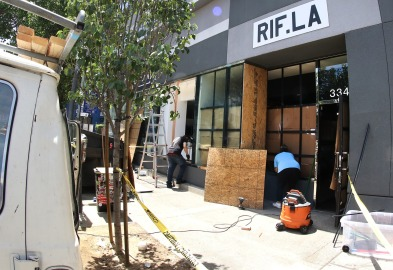 RIF LA, a sneaker store, Clayson Store, & the Little tokyo pharmacy in Honda Plaza were also damaged.